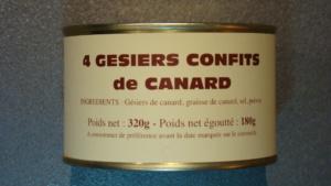 4 gésiers confits de Canard - 180g