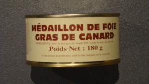 Médaillon de foie gras de canard enrobé de maigre et gras de porc - 180g