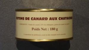 Friton de canard aux châtaignes 25% - 180g