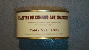 Rillettes de canard aux châtaignes 25% - 180g