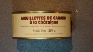 Aiguillettes de canard aux châtaignes - 250g