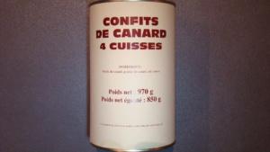 Confits de canard 4 cuisses - 850g