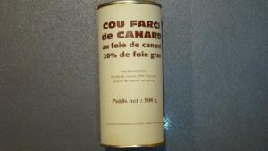 Cous farcis de canard au foie gras 20% - 500g