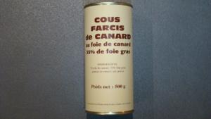 Cous farcis de canard au foie gras 35% - 500g