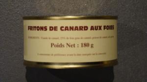 Friton de canard aux foies 25% - 180g