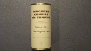 Magrets confits de canard - 400g