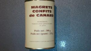Magrets confits de canard - 215g