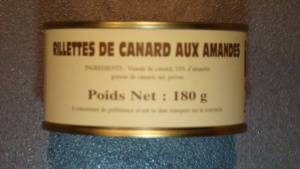 Rillettes de canard aux amandes 10% - 180g
