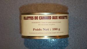 Rillettes de canard aux noisettes 10% - 180g
